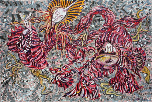 George Gittoes. <em>The Collector</em>, 2009–2010. Oil on canvas, 200 cm x 300 cm.