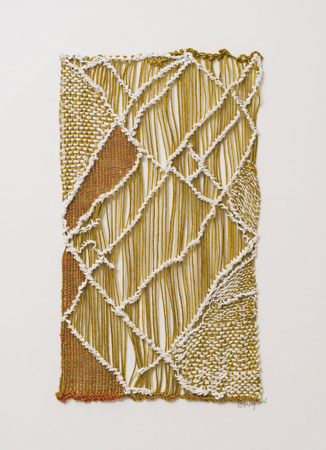 Sheila Hicks. Bas-relief panels for architectural projects, 2014-15.