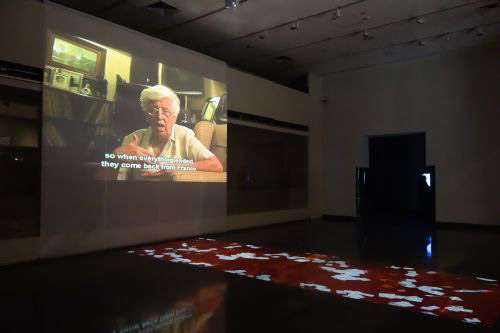Anita Glesta. Gernika/Guernica video installation in main gallery.