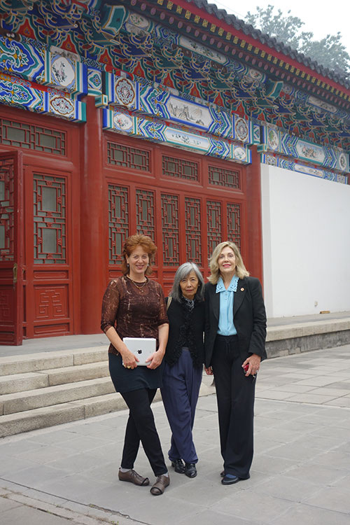 Anita Glesta, Lilly Wei and Dame Jillian Sackler.