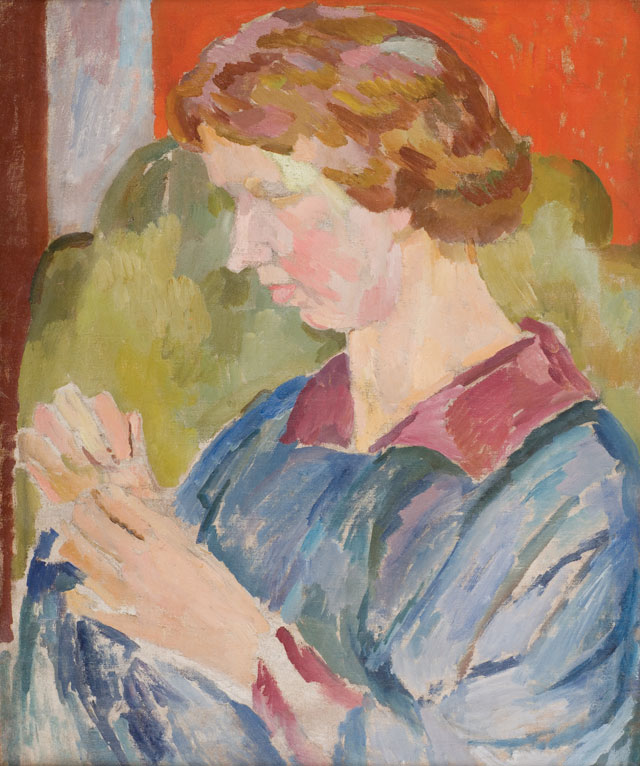 Vanessa Bell. Portrait of Faith Henderson, 1917. Oil on Canvas, 56 x 45 cm. The Artist's estate, Private collection. Image courtesy of The Fine Art Society.