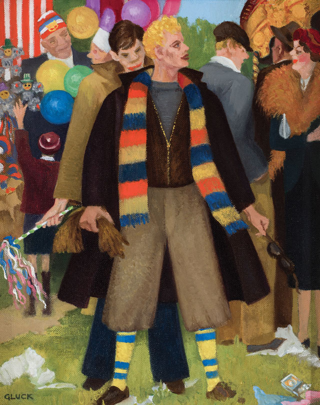 Gluck. Bank Holiday Monday, 1937. Oil on canvas, 24.3 x 19.3 cm. Private collection. Image courtesy of The Fine Art Society.
