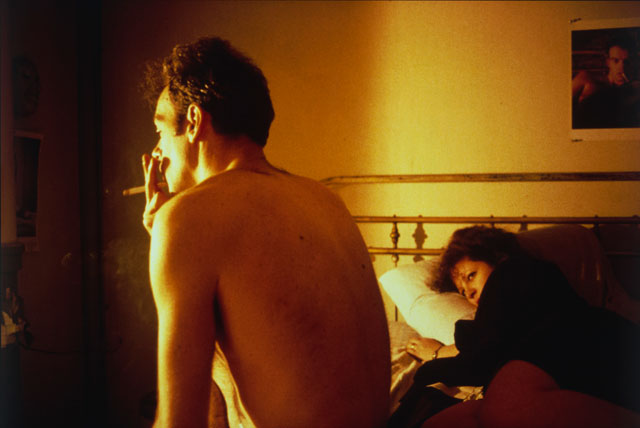 Nan Goldin. Nan and Brian in Bed, New York City, 1983. Silver dye bleach print, printed 2006, 15 1/2 x 23 3/16 in (39.4 x 58.9 cm). The Museum of Modern Art, New York. Acquired through the generosity of Jon L. Stryker. © 2016 Nan Goldin.