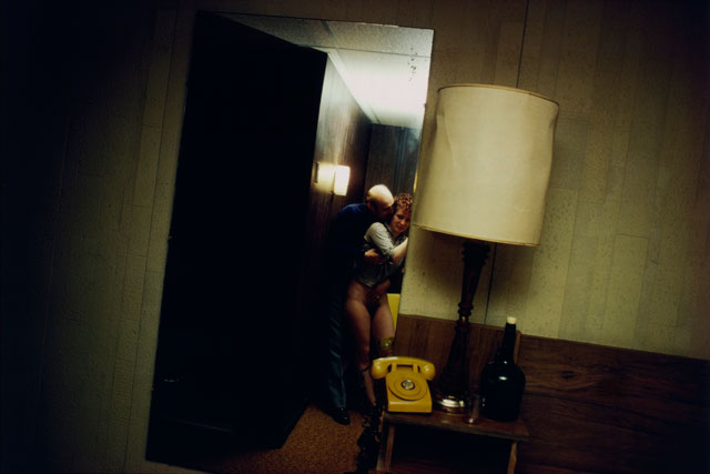 Nan Goldin. Nan and Dickie in the York Motel, New Jersey, 1980. Silver dye bleach print, printed 2008, 15 1/2 x 23 1/8 in (39.4 x 58.7 cm). The Museum of Modern Art, New York. Purchase. © 2016 Nan Goldin.