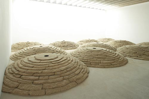Andy Goldsworthy. <em>Stone Room</em>, 2007. Yorkshire sandstone quarried by Johnsons Wellfield, Huddersfield. Dry stone construction, carved holes. Photo: Jonty Wilde.