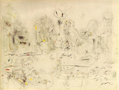 Arshile Gorky. <em>Study for Summation, </em>1946. Pencil and crayon on paper, 46.7 x 61 cm. The Museum of Modern Art, New York. © 2007 Estate of Arshile Gorky/Artists Rights Society (ARS), New York.