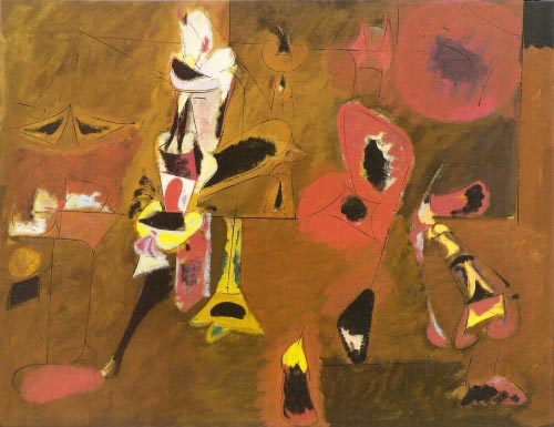 Arshile Gorky. <em>Agony</em>, 1947. Oil on canvas, 101.6 x 128.3 cm. The Museum of Modern Art, New York. &copy; 2007 Estate of Arshile Gorky/Artists Rights Society (ARS), New York.