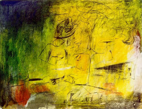 Arshile Gorky. <em>Aesthetics,</em> c. 1946. Pencil and colour crayon on paper, 48.3 x 62.2 cm. Calouste Gulbenkian Foundation, Lisbon.