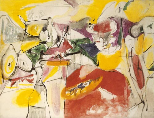Arshile Gorky. <em>Cornfield of Health</em>, 1944. Oil on canvas, 86.5 x 111.5 cm. Private collection.
