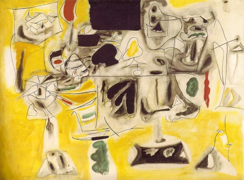 Arshile Gorky. <em>Landscape-Table,</em> 1945. Oil on canvas, 92 x 121 cm. Musée national d'Art moderne, Paris. © Collection Centre Pompidou, Paris.