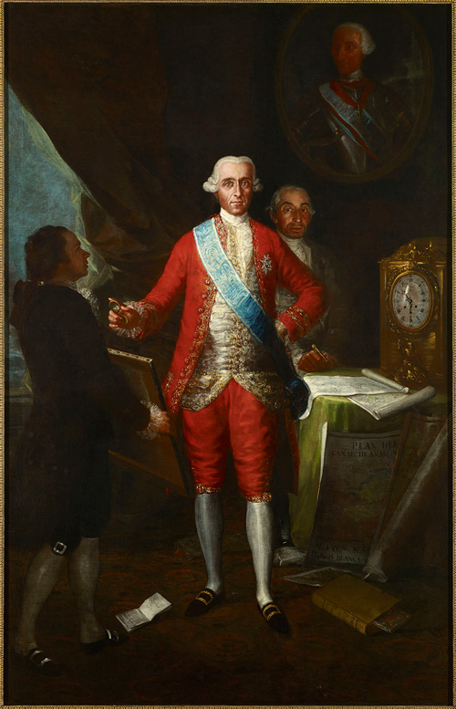 Francisco de Goya. The Count of Floridablanca, 1783. Oil on canvas, 260 x 166 cm. © Colección Banco de España.