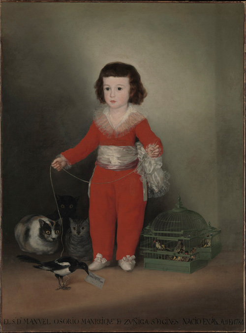 Francisco de Goya. Manuel Osorio Manrique de Zuñiga, 1788. Oil on canvas, 127 x 101.6 cm. Lent by The Metropolitan Museum of Art, The Jules Bache Collection, 1949. © The Metropolitan Museum of Art, New York.