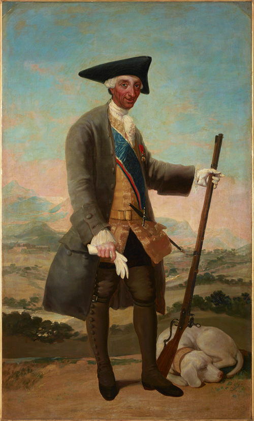 Francisco de Goya. Charles III in Hunting Dress, 1786-8. Oil on canvas, 210 x 127 cm. Courtesy of Duquesa del Arco.