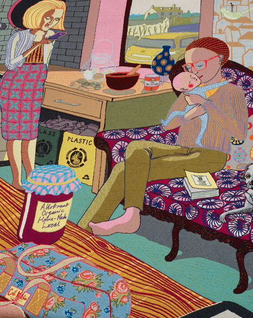 Below: Grayson Perry.<em> The Annunciation of the Virgin Deal</em>, 2012 (detail).