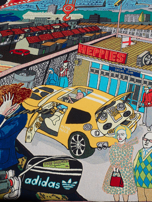 Below: Grayson Perry. The Agony in the Car Park, 2012 (detail).