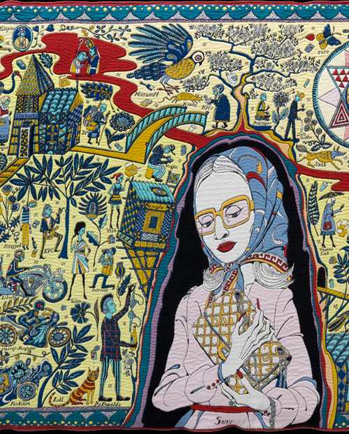Grayson Perry. <em>The Walthamstow Tapestry</em> (detail), 2009. Courtesy of Victoria Miro Gallery and The Paragon Press.