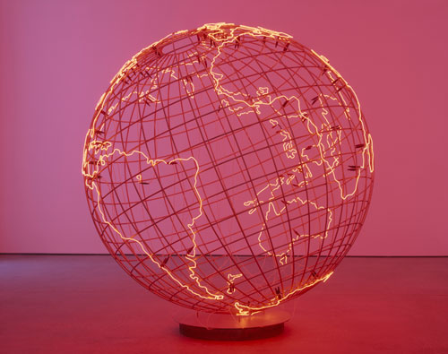 Mona Hatoum. <em>Hot Spot</em>, 2006. Mixed media. Stainless steel and neon tube, 234 x 223 cm. David Roberts Collection, London.