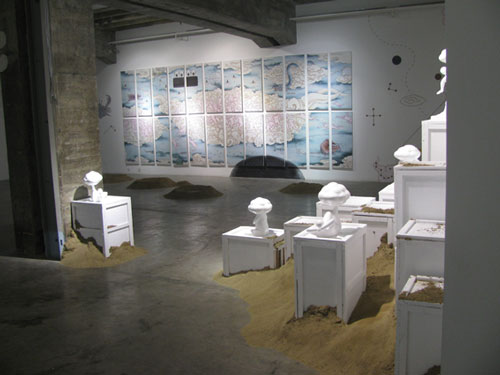 Guan Wei. Installation view 1. Shui Mu Art Center, 798 Art village, Beijing.