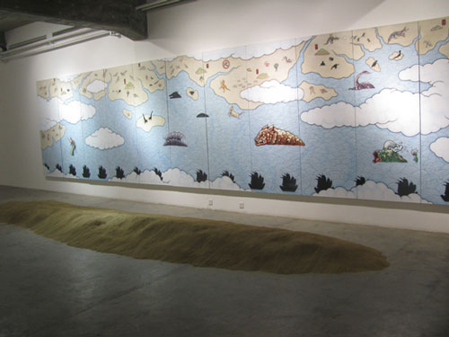 Guan Wei. Installation view 3. Shui Mu Art Center, 798 Art village, Beijing.