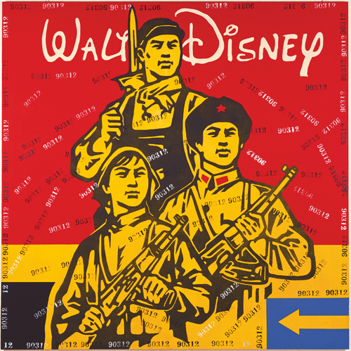 Wang Guangyi. Great Criticism – Walt Disney, 2005. Oil on canvas, 200 x 200 cm. © 2013 Wang Guangyi.