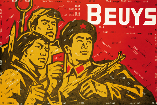 Wang Guangyi. Great Criticism – Beuys, 2002. Oil on canvas, 200 x 300 cm. © 2013 Wang Guangyi