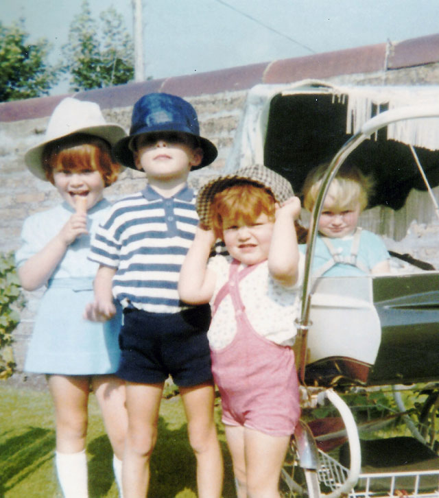 Karen Guthrie and her siblings as children.