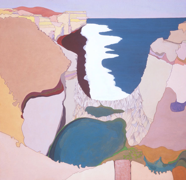 Philip Hughes. The Grotto, Port Campbell, 1991. Acrylic and pastel on paper, 126 x 131 cm. Image courtesy the artist.