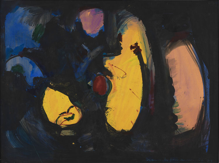 Hans Hofmann, Rendezvous, 1944. Oil on panel, 77.5 x 104.1 cm. Courtesy Bastian. With permission of the Renate, Hans & Maria Hofmann Trust / Artists Rights Society (ARS), New York.