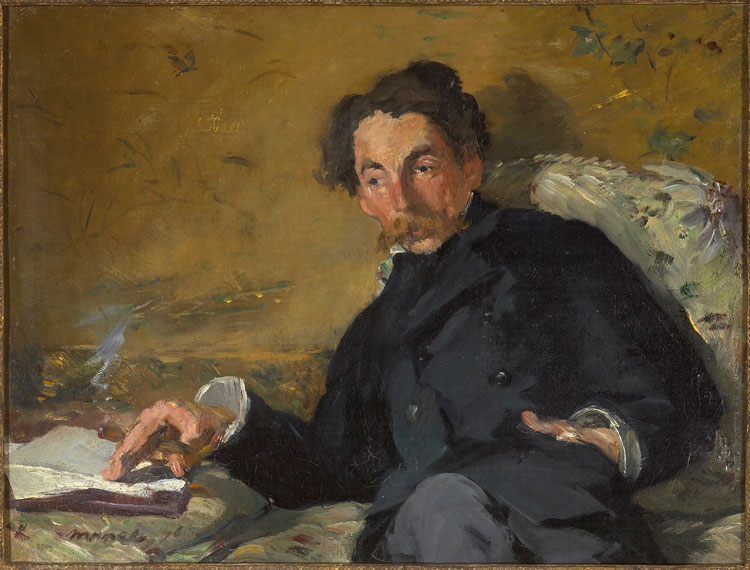 Édouard Manet, Portrait of Stéphane Mallarmé, 1876. Oil on canvas, 27.5 x 36 cm. Paris, Musée d'Orsay. Photo © RMN-Grand Palais (musée d'Orsay) / Patrice Schmidt.