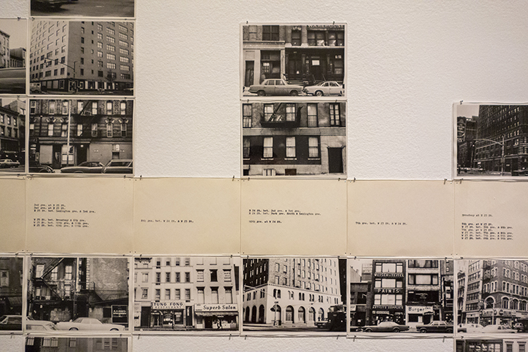 Hans Haacke, Gallery-Goers' Birthplace and Residence Profile, Part 2, 1970 (detail). 732 black-and-white photographs and 189 typewritten cards, 4⅞ x 7⅛ in. each. Photo: Antonio Rivera.