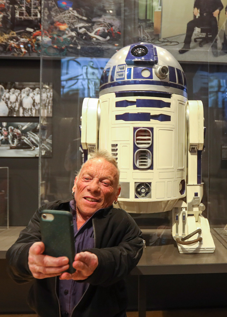R2-D2 actor Jimmy Vee at V&A Dundee.