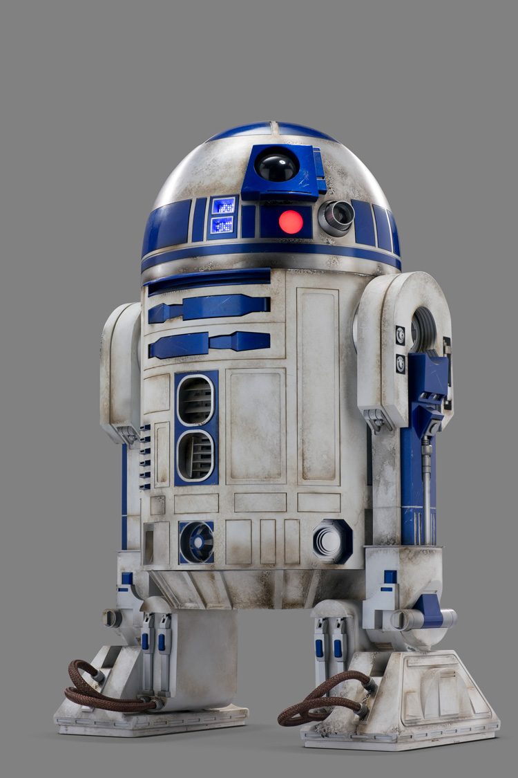R2-D2 film prop, George Lucas, 1977. © Lucasfilm Ltd. & TM. All Rights Reserved.