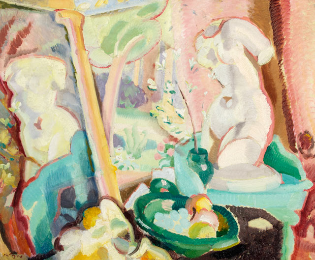 Ivon Hitchens, Spring in Eden, 1925. Oil on canvas, 49 x 59.5 cm. Swindon Museum and Art Gallery © The Estate of Ivon Hitchens.