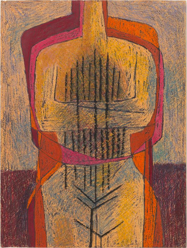 Luchita Hurtado, Untitled, c1951. Crayon and ink on paper, 61 x 45.9 cm. © Luchita Hurtado, Courtesy Los Angeles County Museum of Art, Gift of Janet Dreisen Rappaport and Herb Rappaport through the 2019 Collectors Committee. Photo: Genevieve Hanson.