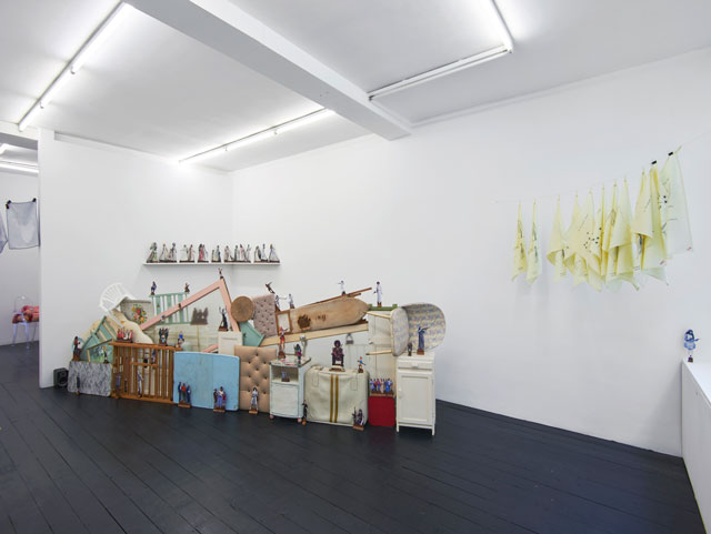 Home Strike, installation view, I'étrangère, London, 2018. Photograph: Andy Keate.