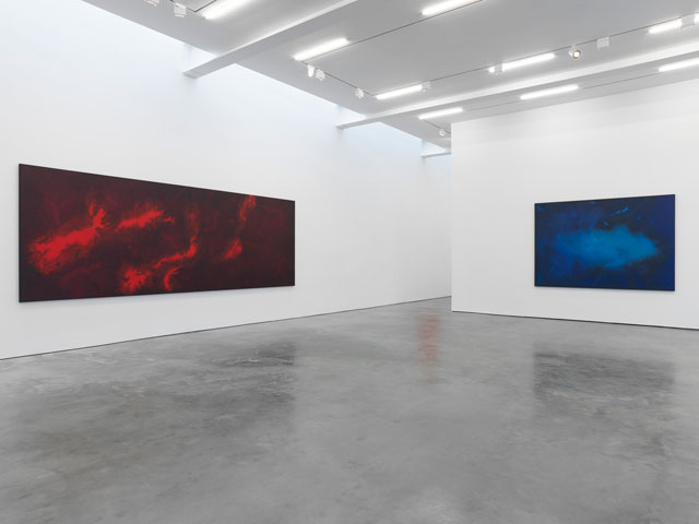 Installation view of Shirazeh Houshiary: Nothing is deeper than the skin at Lisson Gallery New York. © Shirazeh Houshiary; Courtesy Lisson Gallery.