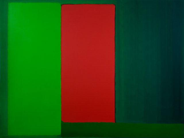 John Hoyland. 20.4.66, 1966. Acrylic on canvas, 229.5 cm x 304.8 cm (90 3/8 x 120 in). © The John Hoyland Estate. All rights reserved, DACS 2017. Photograph: Colin Mills,