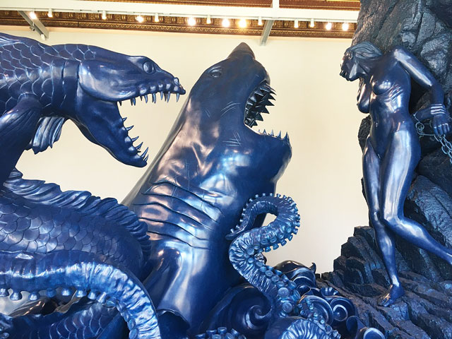 Damien Hirst. Andromeda and the Sea Monster. Bronze, 391 x 593.1 x 369.7cm. Photograph: Joe Lloyd.