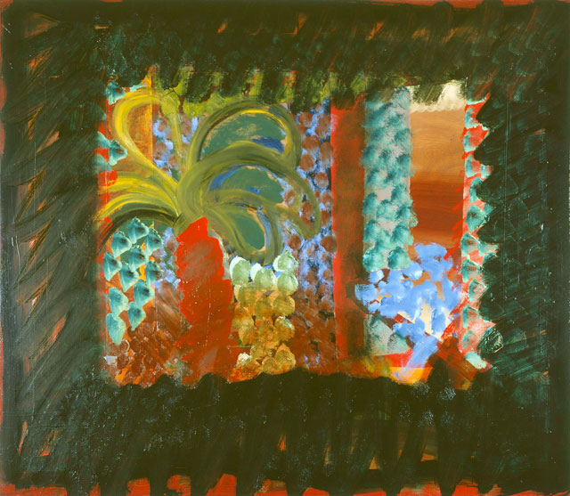 Howard Hodgkin. In the garden of the Bombay Museum, 1978–82. Oil on wood, 122 x 143 cm. © Howard Hodgkin. Courtesy the artist and Gagosian.