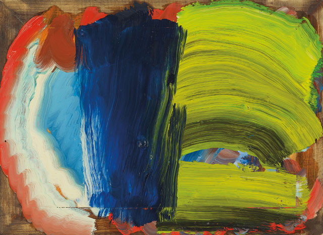 Howard Hodgkin. Letters from Bombay, 2012–14. Oil on wood, 40 x 54.9 cm. © Howard Hodgkin. Courtesy the artist and Gagosian.