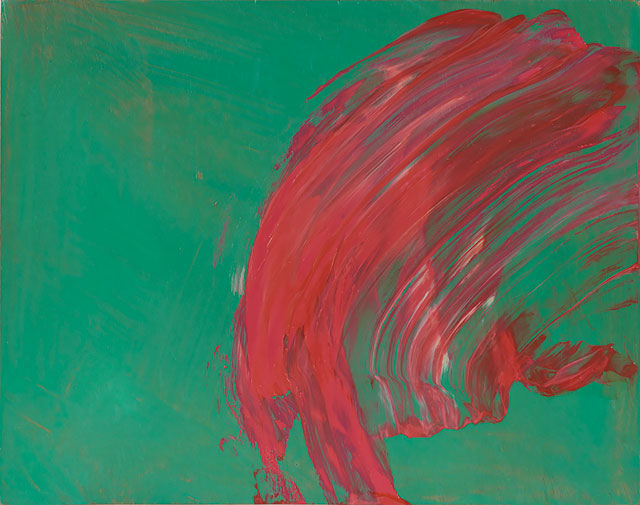 Howard Hodgkin. Over to You, 2015–17. Oil on wood, 24.8 x 31.4 cm. © Howard Hodgkin. Courtesy the artist and Gagosian.