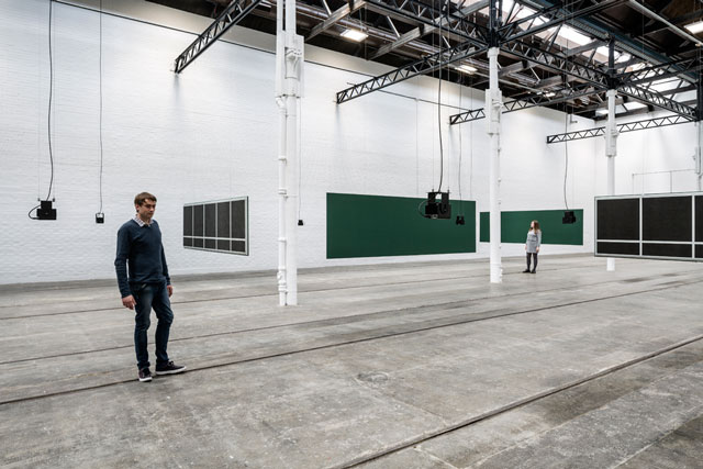Florian Hecker: Synopsis, installation view, Tramway, Glasgow, 2017. Courtesy Tramway,  Glasgow.