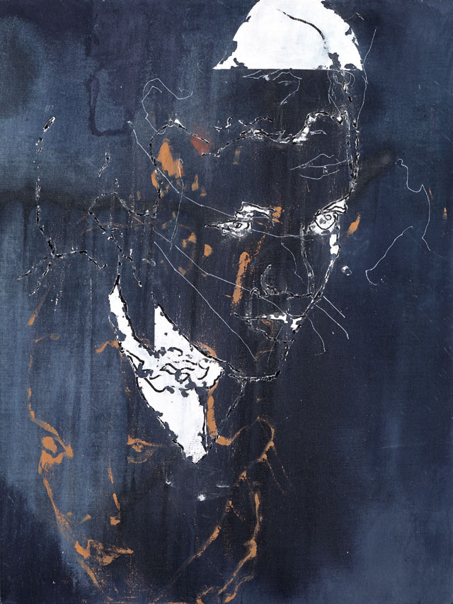 Secundino Hernández. Entrance, 2017. Acrylic, alkyd and oil on linen, 84.5 x 63.4 cm (33 1/4 x 25 in). Courtesy the Artist and Victoria Miro, London. © Secundino Hernández.