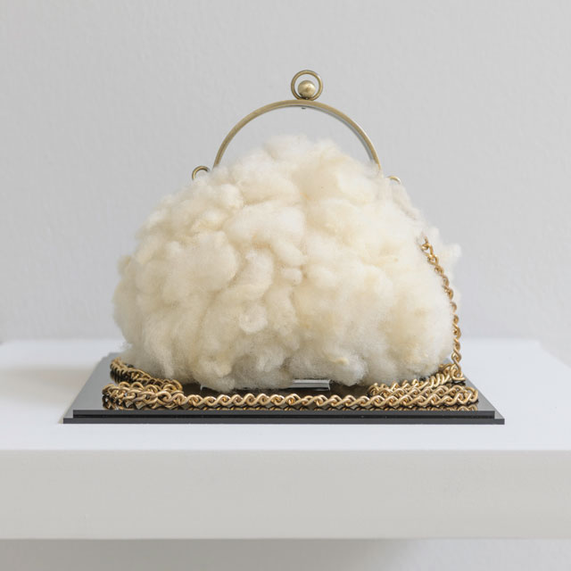 Elpida Hadzi-Vasileva. Ladies Purse 4, 2011. Photograph: Nick Dunmur, courtesy Elpida Hadzi-Vasileva and Djanogly Gallery.