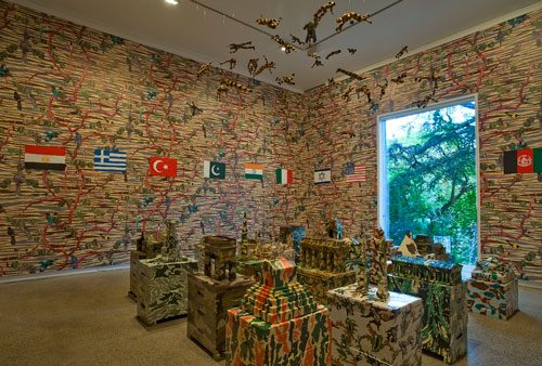 Fiona Hall. Big Game Hunting, 2013. Installation view (3). Heide Museum of Modern Art, Melbourne. Photograph: John Brash.