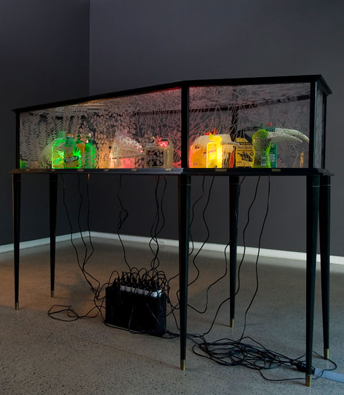 Fiona Hall. Big Game Hunting, 2013. Installation view (4). Heide Museum of Modern Art, Melbourne. Photograph: John Brash.