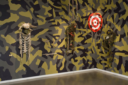 Fiona Hall. Big Game Hunting, 2013. Installation view (5). Heide Museum of Modern Art, Melbourne. Photograph: John Brash.