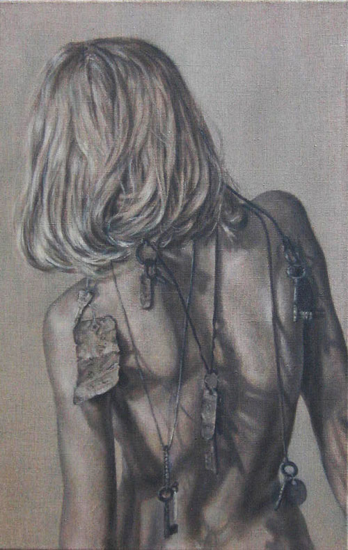 Roxana Halls. Back IV, 2010. Oil on linen, 70 x 45 cm. © the artist.