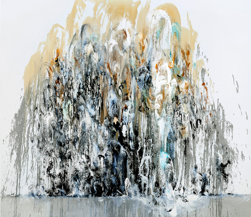 Maggi Hambling. Wall of water I, 2010. Oil on canvas, 78 x 89 in. © Maggi Hambling. Photograph: Douglas Atfield.