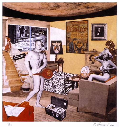 Richard Hamilton, Just what was it that made yesterday's homes so different, so appealing? 1992. Tate